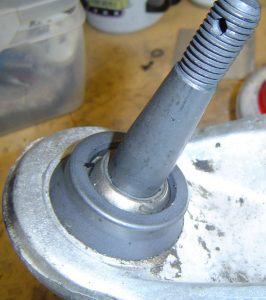 New lower ball joint on C4 Corvette, top view