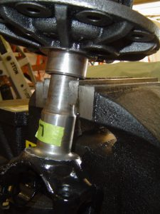 Dana 36 differential secured in bench vise