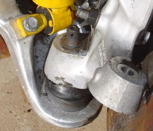 Lower ball joint on C4 Corvette front suspension