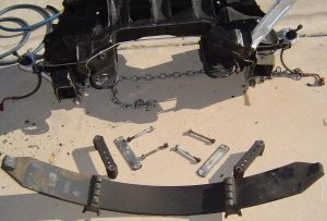 C4 Corvette front leaf spring and suspension cradle