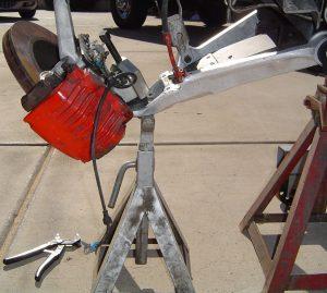 C4 Corvette front brake & hub assembly