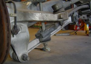 Left rear suspension on the C4 Corvette