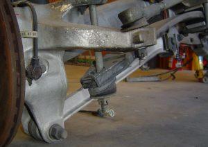 Left rear suspension on the C4 Corvette