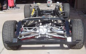 1957 Corvette RestoMod, polished rear suspension