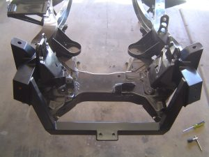 C4 Corvette suspension cradle in a 1956 frame