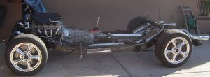 Completed chassis of the 1957 Corvette RestoMod