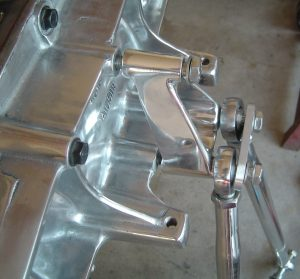 Polished C4 Corvette carrier and tie-rods