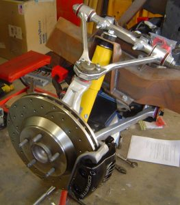 Front suspension & brakes of C4 Corvette, left side