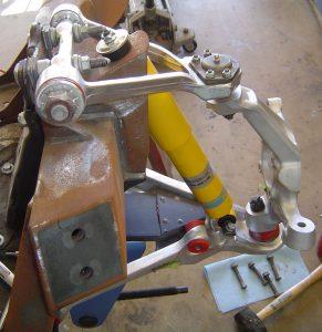 C4 Corvette suspension rebuild, left side