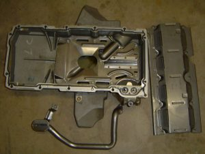 1999 Corvette gullwing oil pan, pickup tube & baffle