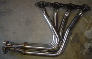 Polished stainless steel headers for LS1 restomod project