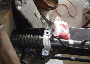 Rack & pinion installation on C4 Corvette, passenger's side