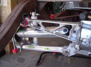 Left rear suspension on a C4 Corvette
