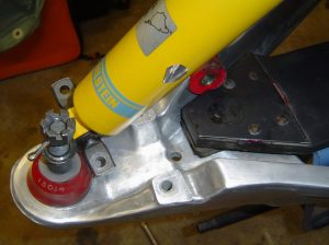 Shock & lower control arm on C4 Corvette